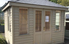 2.4 x 3.0m Cley Summerhouse at Nottingham in Farrow & Ball Light Gray