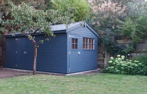 3.0 x 4.8m Superior Shed painted in Exterior Slate