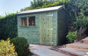 1.8 x 3.0m Superior Shed in Sikkens Green