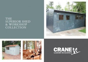Superior Shed Brochure Cover with a selection of different sheds