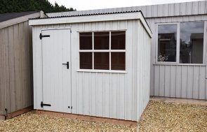 1.8 x 2.4m Oxburgh Shed at Narford painted in Disraeli Green