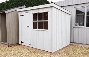 Narford's 1.8 x 2.4m Oxburgh Shed painted in Disraeli Green