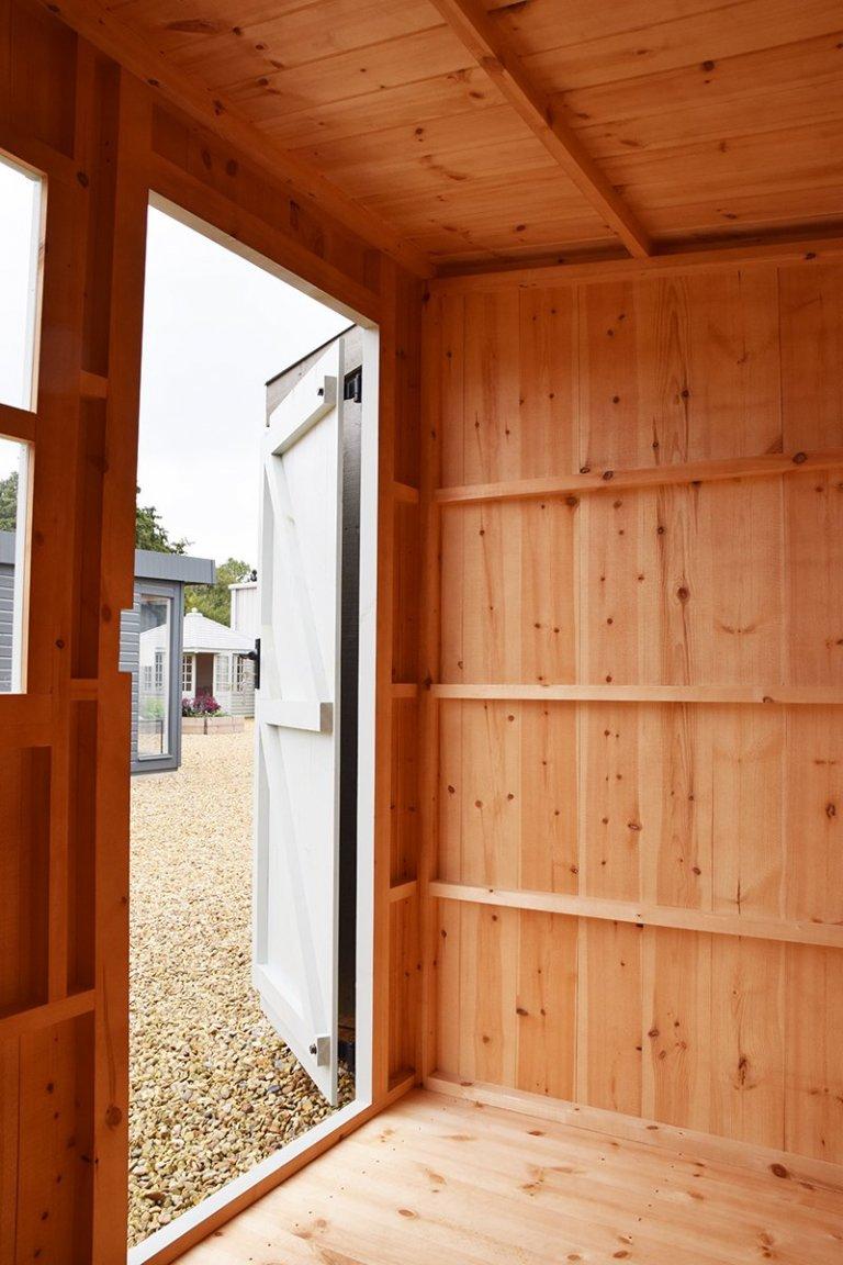 Inside Narford's 1.8 x 2.4m Oxburgh Shed