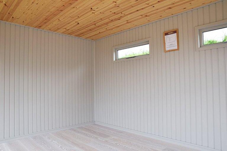 Interior of Narford's 3.8 x 5.0m Holt Studio