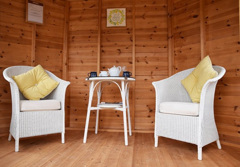 Inside Narford's 2.4 x 3.0m Classic Summerhouse