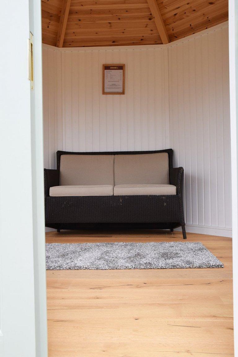Inside Narford's 3.0 x 3.0m Wiveton Summerhouse