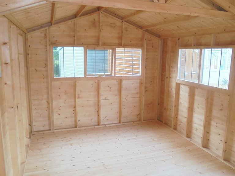 Unlined Interior of Newbury's 3.0 x 4.8m Superior Shed