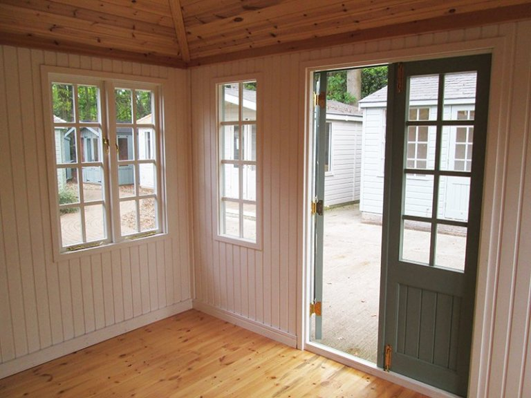 Inside the 3.0 x 3.6m Cley Summerhouse at Sunningdale
