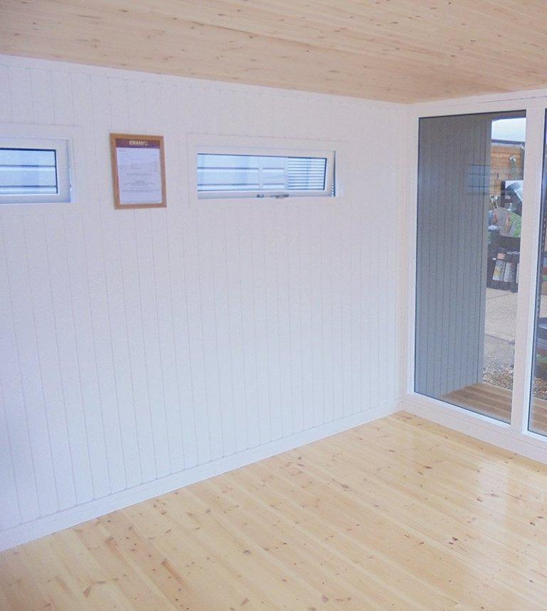 Interior of the 3.8 x 4.4m Holt Studio at Newbury