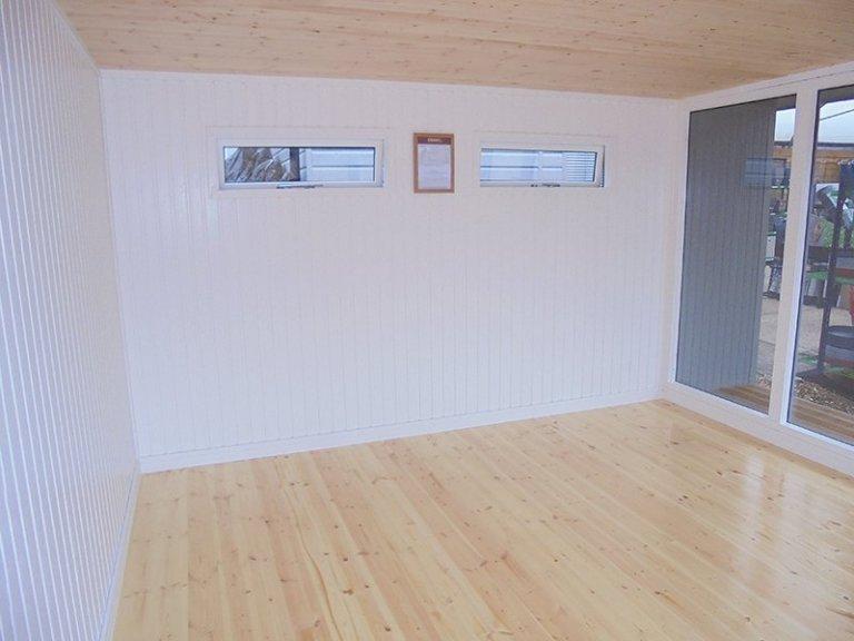 Inside the 3.8 x 4.4m Holt Studio at Newbury