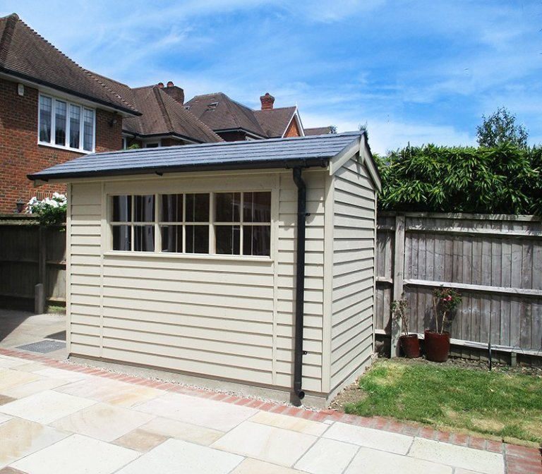 1.8 x 3.0m Farrow & Ball Painted Superior Shed in French Gray