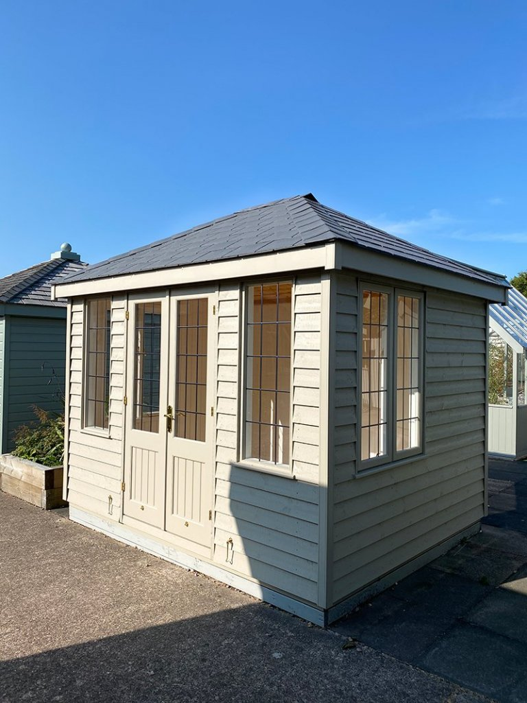 Side view of Nottingham's 2.4 x 3.0m Cley Summerhouse