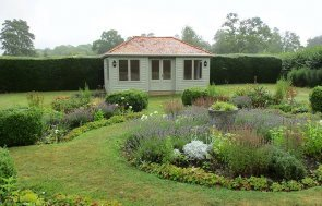 3.6 x 6.0m Garden Room painted in Farrow & Ball French Gray