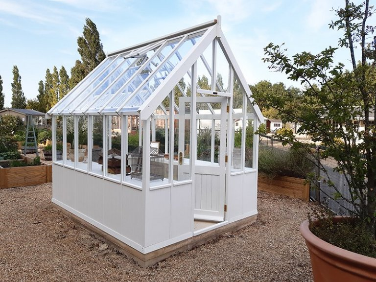 Burford's 2.4 x 3.0m Greenhouse with open door