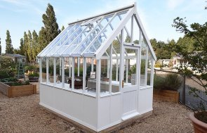 2.4 x 3.0m Greenhouse at Burford painted in Exterior Ivory