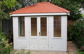 Cley Summerhouse with Terracotta slate effect tiles