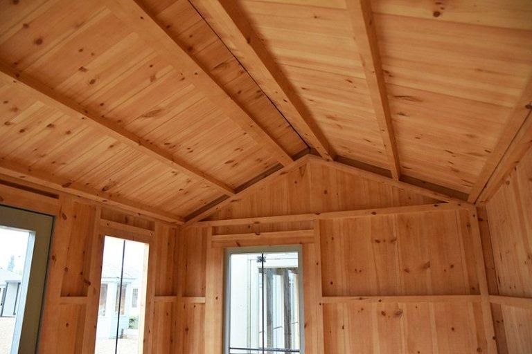 The roof inside Narford HQ's 1.8 x 3.0m National Trust Lavenham Summerhouse