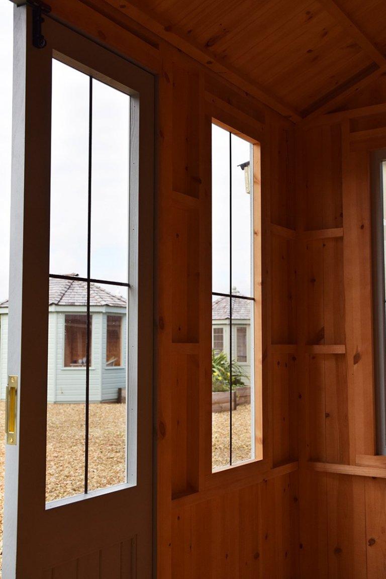 Unlined interior inside Narford HQ's 1.8 x 3.0m National Trust Lavenham Summerhouse