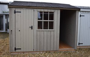 Narford HQ's 2.4 x 3.0m National Trust Blickling Shed painted in Wades Lantern