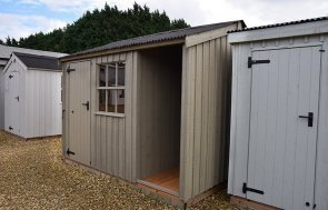 2.4 x 3.0m National Trust Blickling Shed at Narford HQ painted in Wades Lantern