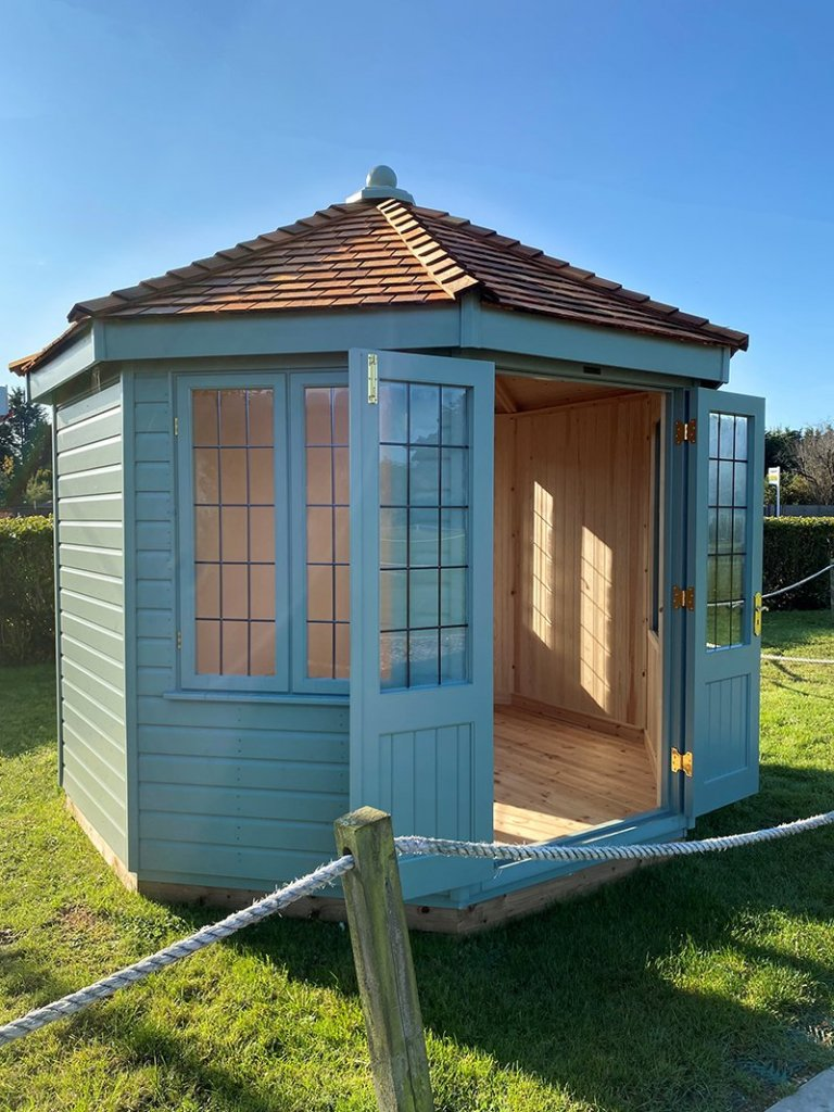3.0 x 3.0m Wiveton Summerhouse at St Albans with open double doors