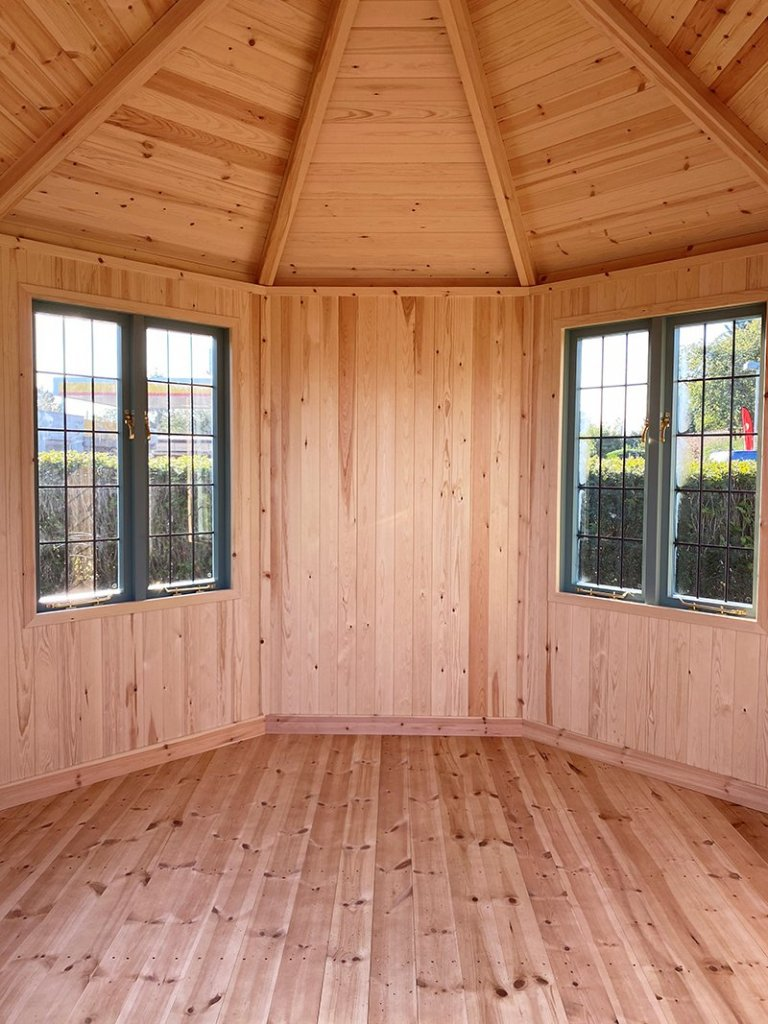 Inside the 3.0 x 3.0m Wiveton Summerhouse at St Albans