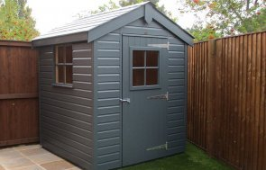 1.8 x 1.8m Superior Shed painted in Exterior Slate
