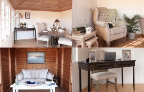 5 Ways You Can Use a Summerhouse from Autumn Through to Spring including a garden office, social space and reading nook