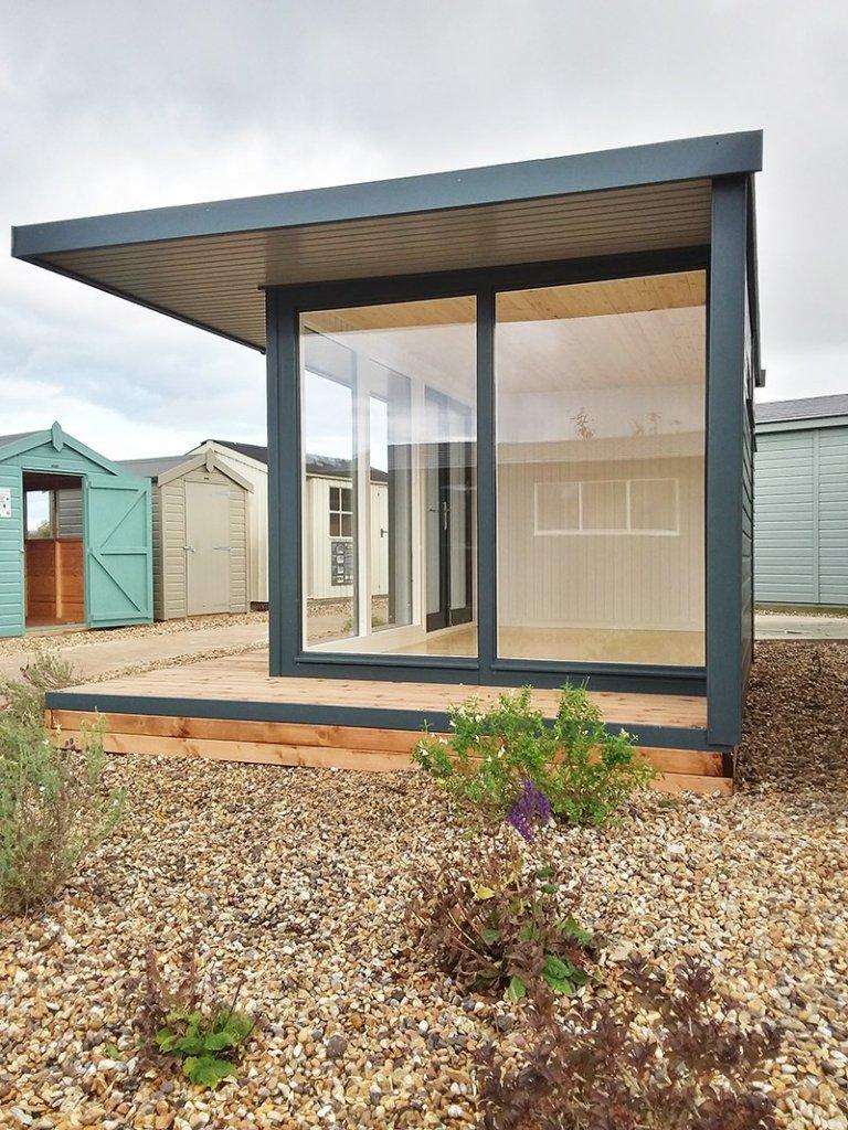 Side view of Brighton's 3.2 x 4.4m Holt Studio