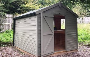 Trentham's 2.4 x 3.0m Classic Shed in Classic Stone