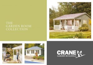 Front cover of Crane's new Garden Room brochure - November 2020