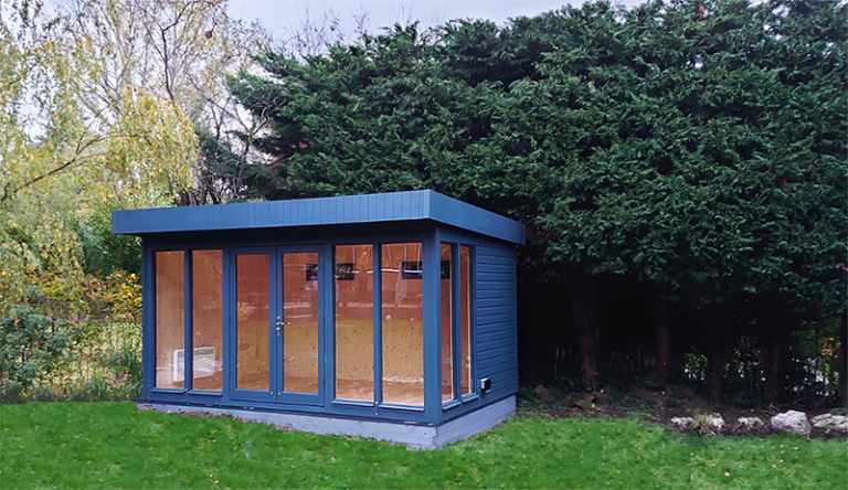 3.0 x 4.2m Salthouse Studio in Exterior Slate Paint with Natural Interior