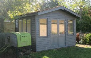 3.6 x 3.0m Binham Studio with Apex Roof painted in Farrow & Ball Downpipe