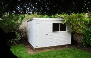 2.4 x 3.0m Classic Shed painted in Classic Smoke