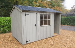 2.4 x 3.6m Blickling National Trust Shed with Apex Roof and Built In Log Store