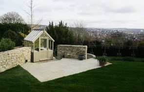1.8 x 2.4m Greenhouse in Exterior Taupe Paint