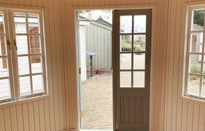 3.6 x 3.6m Wiveton Summerhouse in Exterior Verdigris Paint