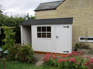 1.8 x 3.6m Blickling National Trust Shed with Apex Roof in Earls Grey