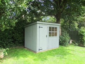 1.8 x 2.4m Oxburgh National Trust Shed in Terrace Green