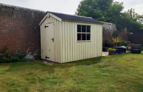 1.8 x 3.0m Peckover National Trust Shed in Dome Ochre with traditional features