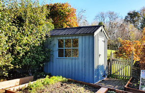 Terrace Green Peckover National Trust Shed measuring 1.8 x 2.4m