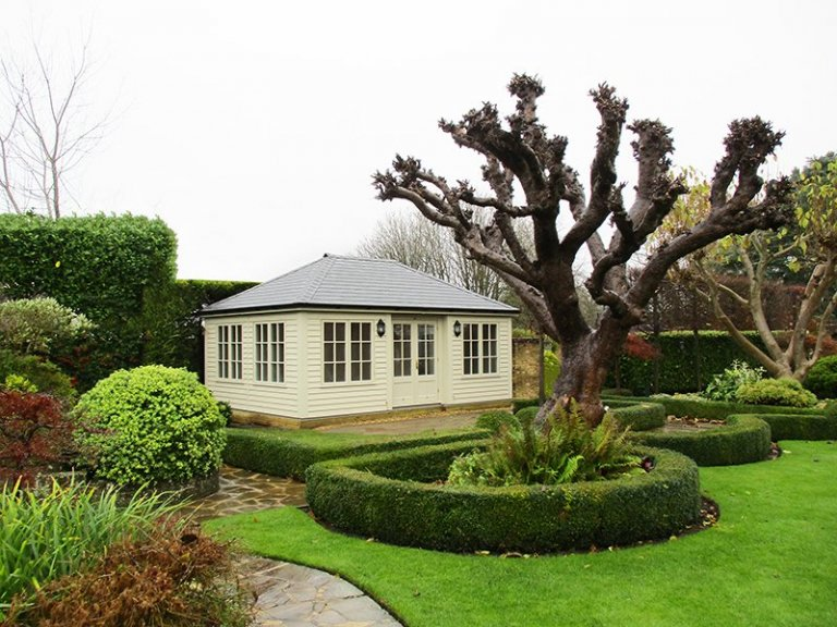 4.2 x 6.0m Garden Room painted in Farrow & Ball Old White