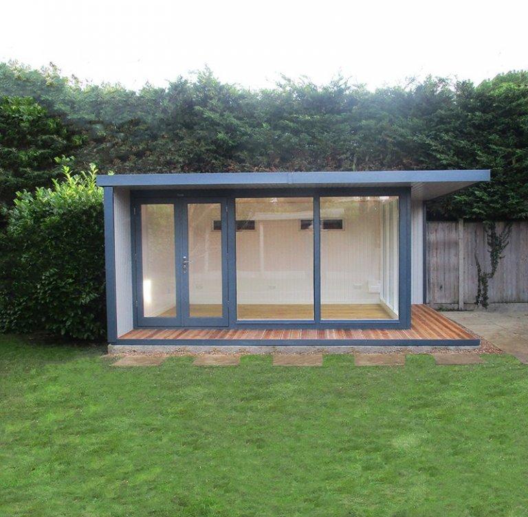 3.8 x 5.0m Holt Studio in Exterior Slate & Pebble Paint