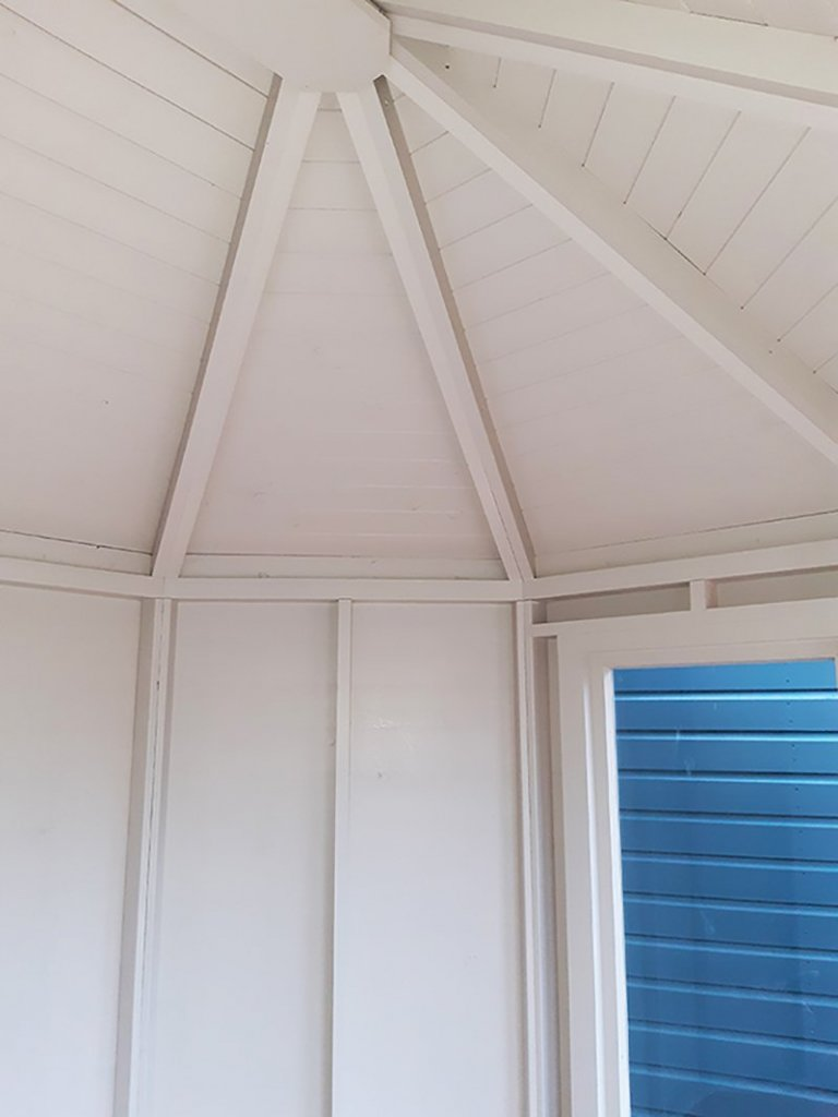 2.4 x 3.0m Classic Summerhouse Cotton Interior