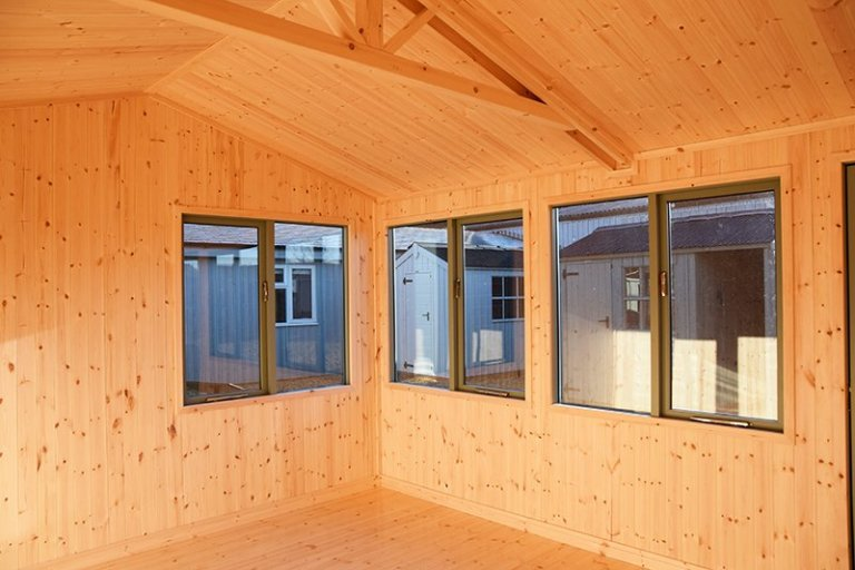 Interior of Narford's 3.6 x 4.2m Langham Studio