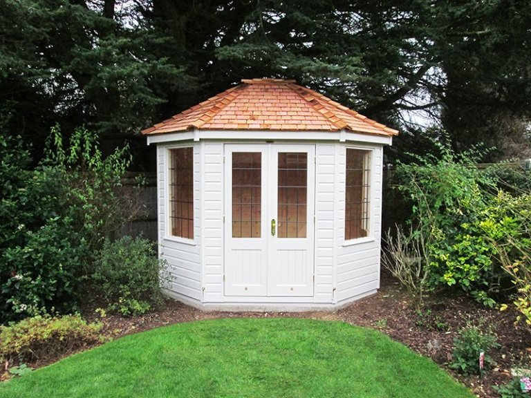 Classic Cotton Painted Classic Summerhouse measuring 2.4 x 3.0m