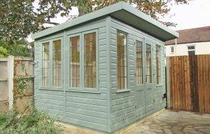 2.4 x 3.0m Thornham Summerhouse in Sage