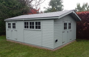 4.2 x 6.0m Superior Shed in Exterior Sage Paint
