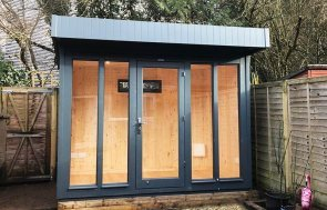 1.8 x 3.0m Salthouse Studio in Exterior Slate Paint