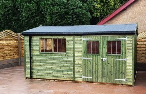 3.0 x 4.8m Superior Shed with Apex Roof Design